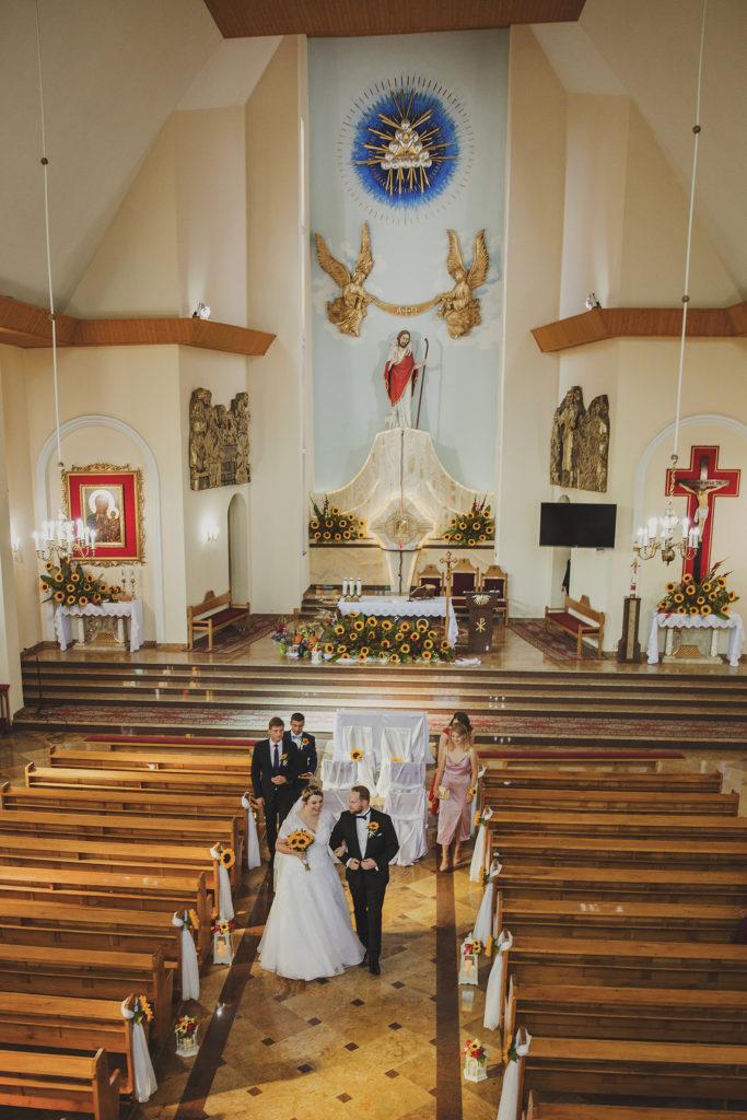 fotograf ślubny na Podkarpaciu, Słoneczniki na ślub, StudioMandala